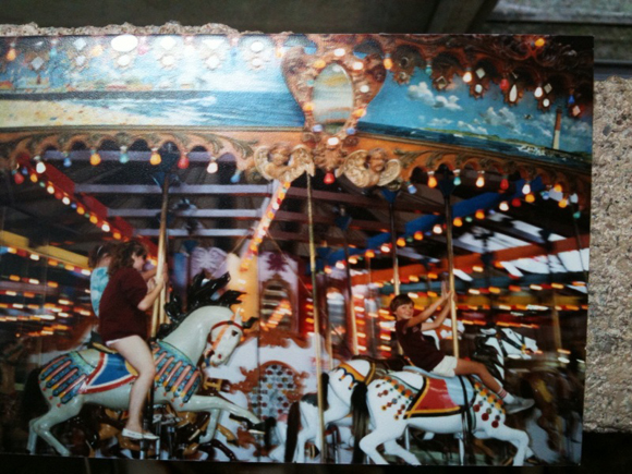 the Funtown Pier Illions carousel.