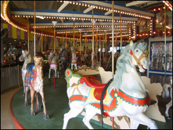 the carousel at the Casino Pier in Seaside Heights