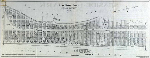 1908 plat of Seaside Park, New Jersey