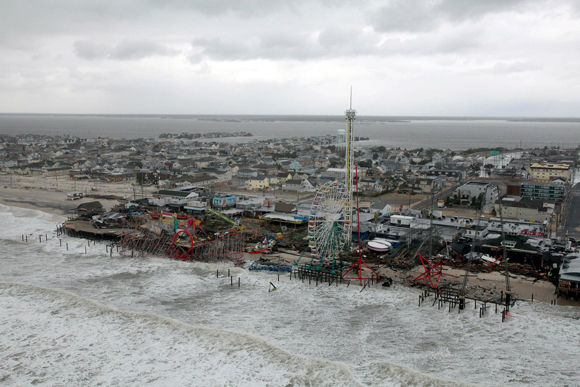 the Funtown Pier after Hurricane Sandy