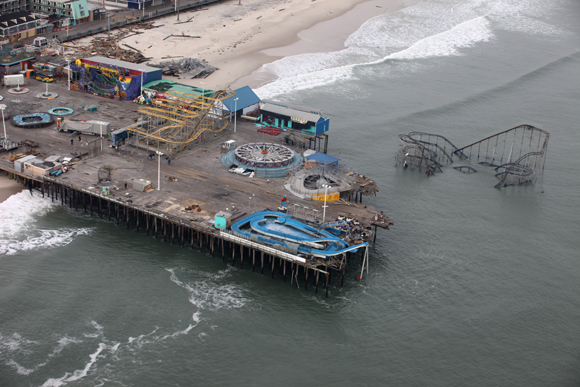the Casino Pier after Hurricane Sandy